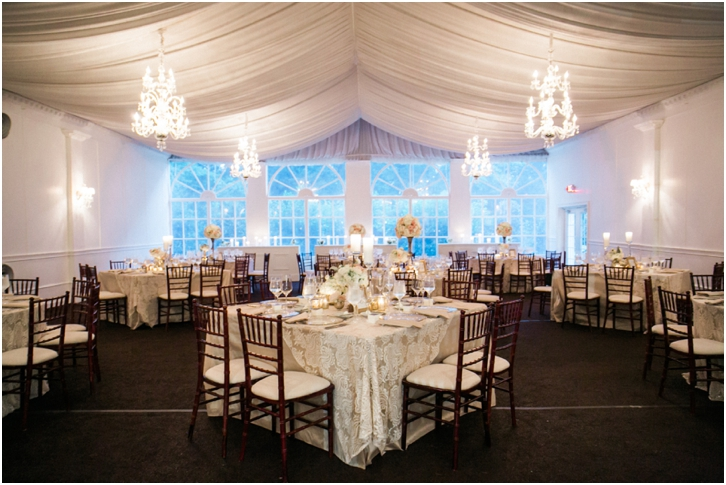 Elegant Blush Reception Decor Atlanta