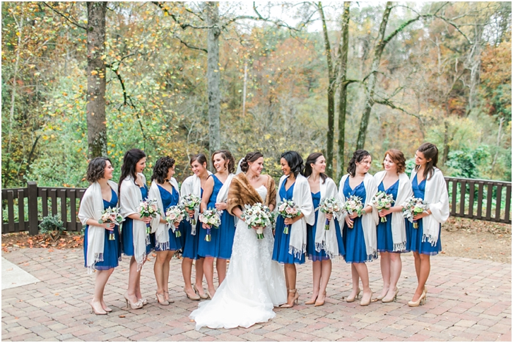 Bridesmaids Roswell Mill Wedding
