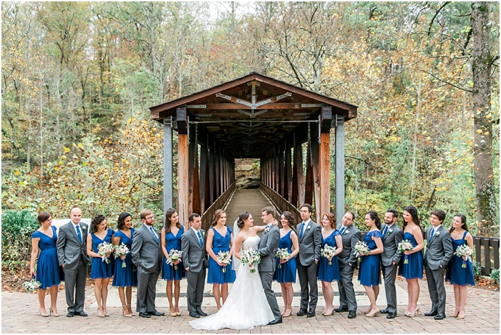 Bridal Party Roswell Mill Bridge