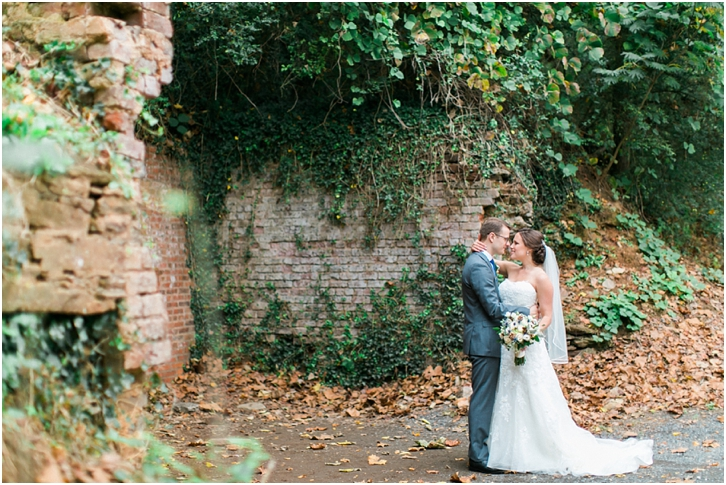 Wedding Photos with Rustic Brick and Ivy Atlanta