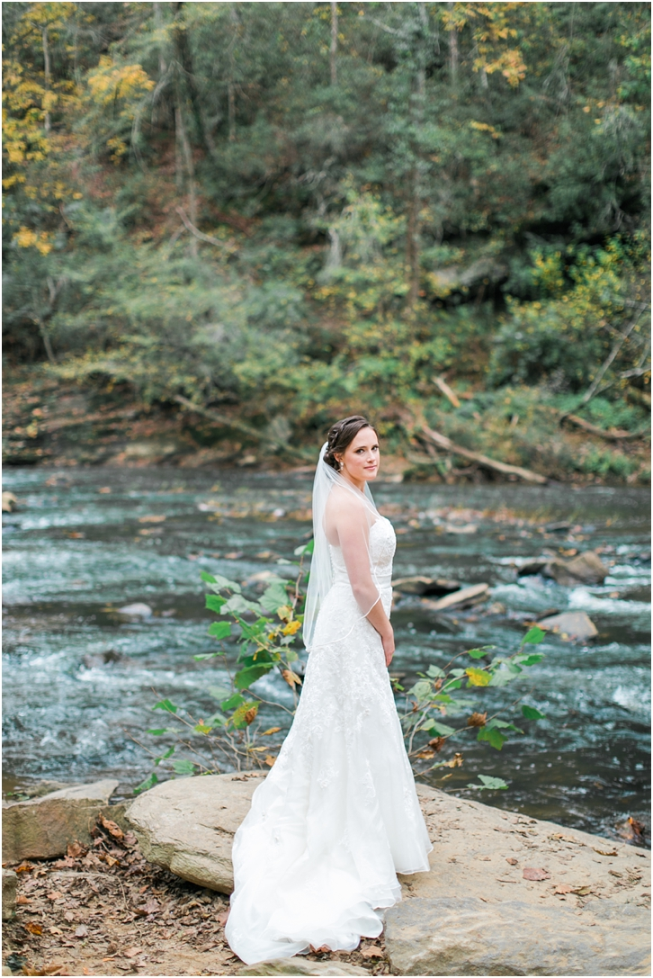 Bride at Roswell Mill River