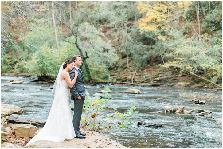 Romantic Bride and Groom Photos Roswell Mill Wedding