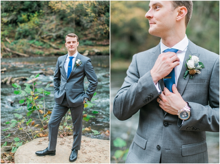 Groom Photos at Roswell Mill Wedding