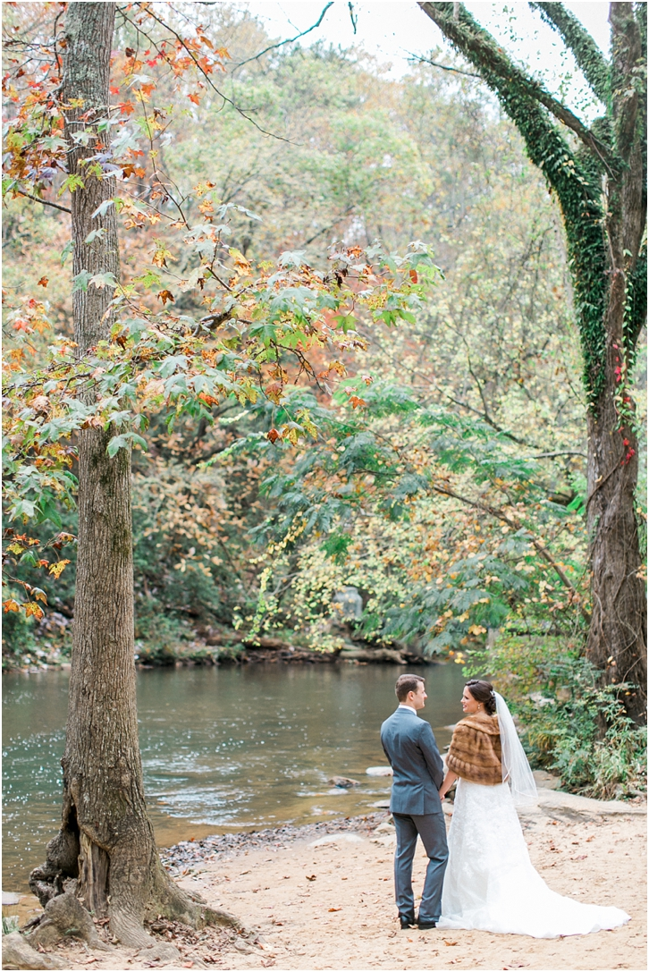 Fall Wedding photos at Roswell Mill