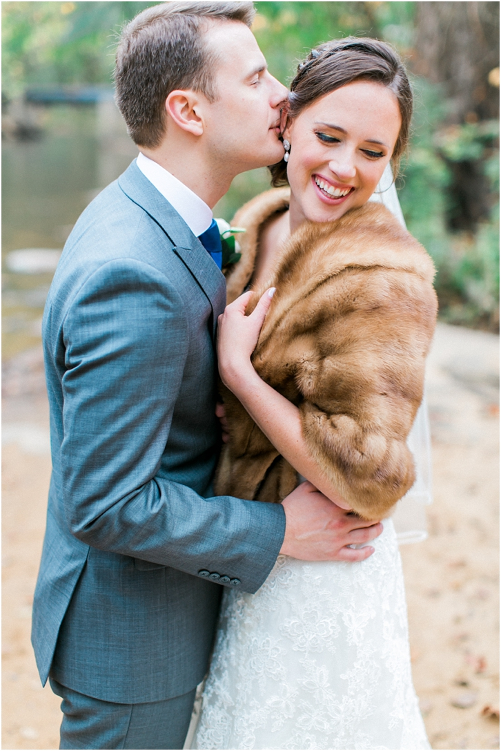 Faux Fur wrap with wedding gown