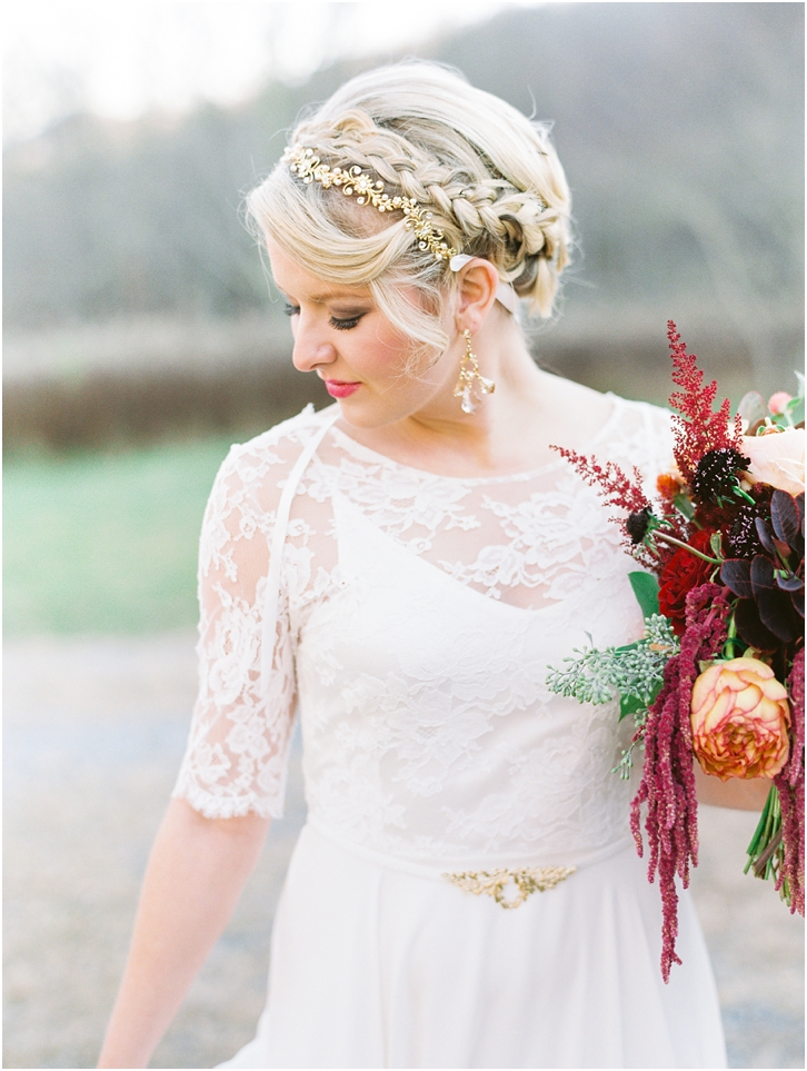 Bridal Braid Ideas with Jewel headpiece