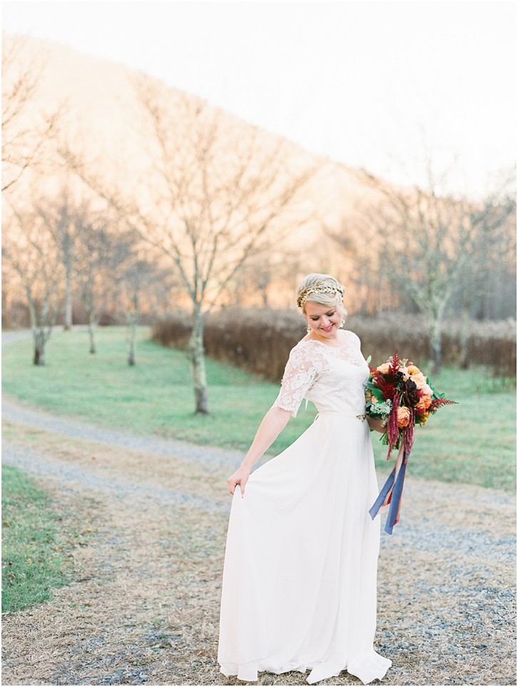 Sarah Seven Flowy Wedding Gown
