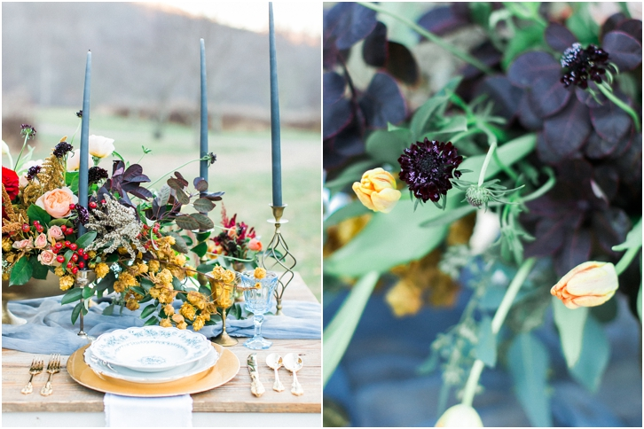 Jewel Tone Wedding Flowers and Reception Decor