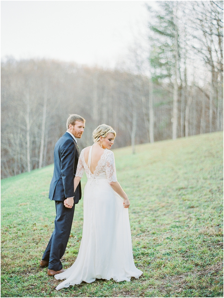 Low Back Flowy Wedding Gown