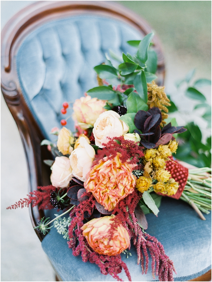 Peach, mauve, and wine Wedding Bouquet Colors