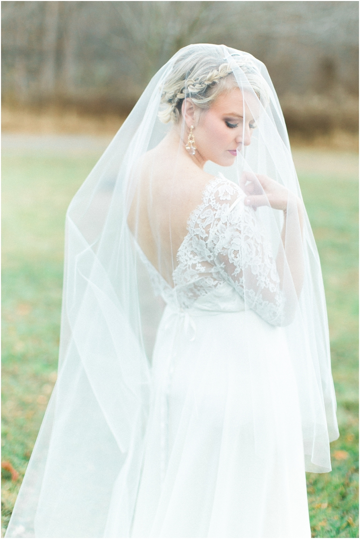 Romantic Wedding Gown with Veil And Braid