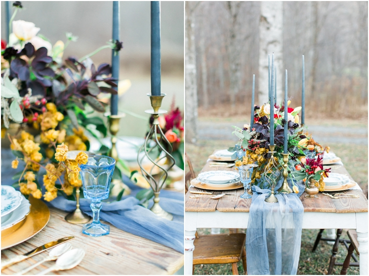 Dusty Blue reception decor Ideas