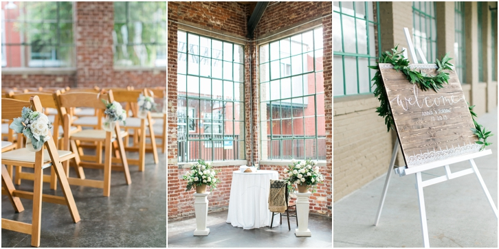 Wedding Ceremony Decor at The Foundry Atlanta
