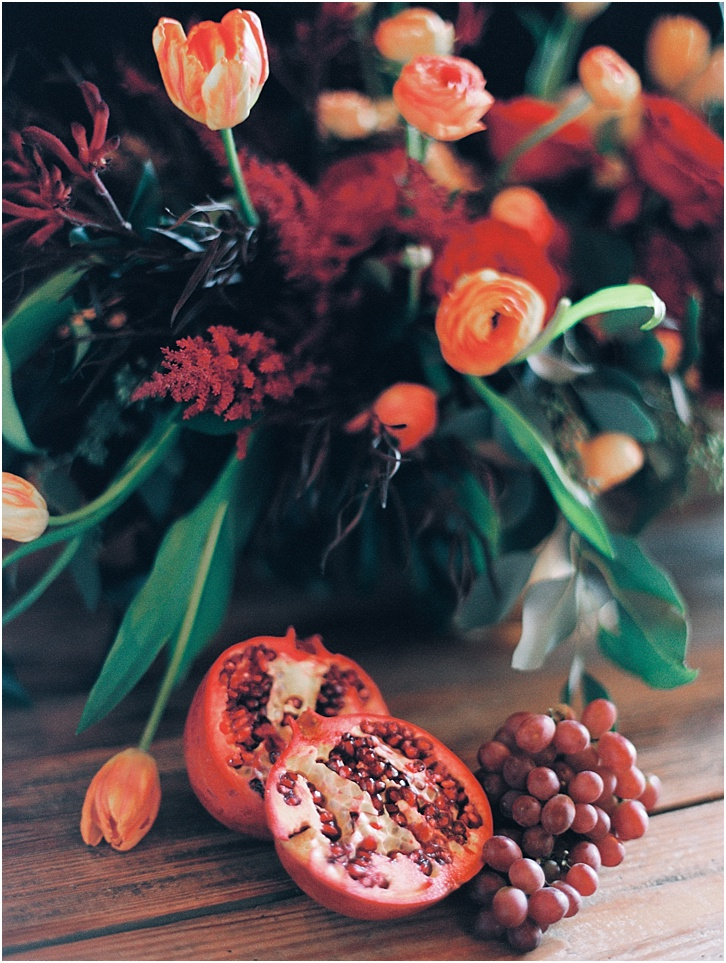Fruit with Florals Table Decor