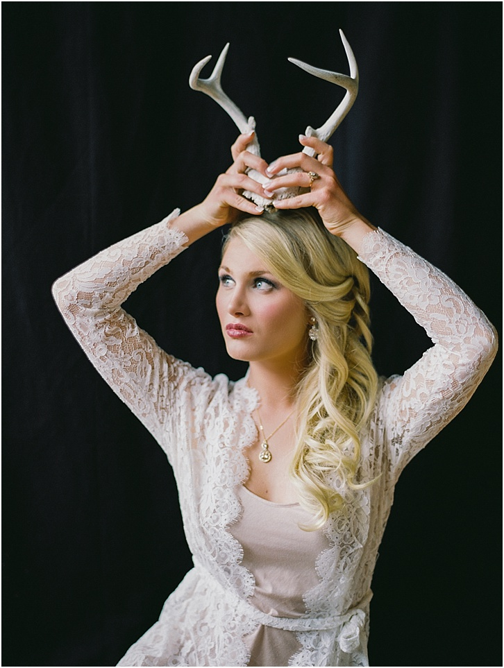 Creative Boudoir outfit ideas. Antlers