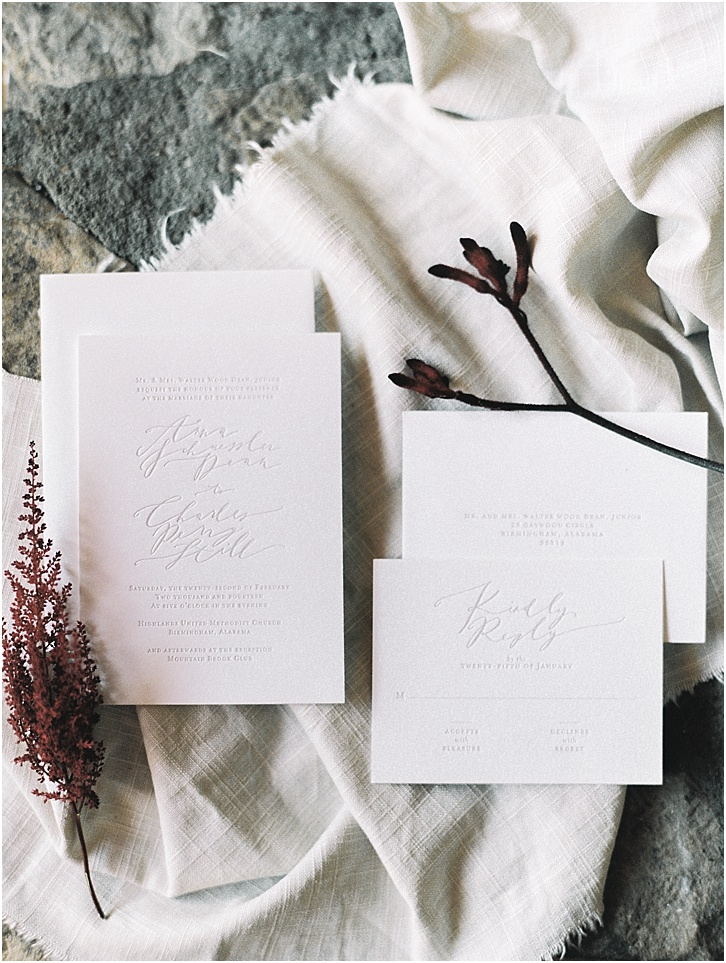 Invitation Suite by Brown Linen Design Abany Bauer