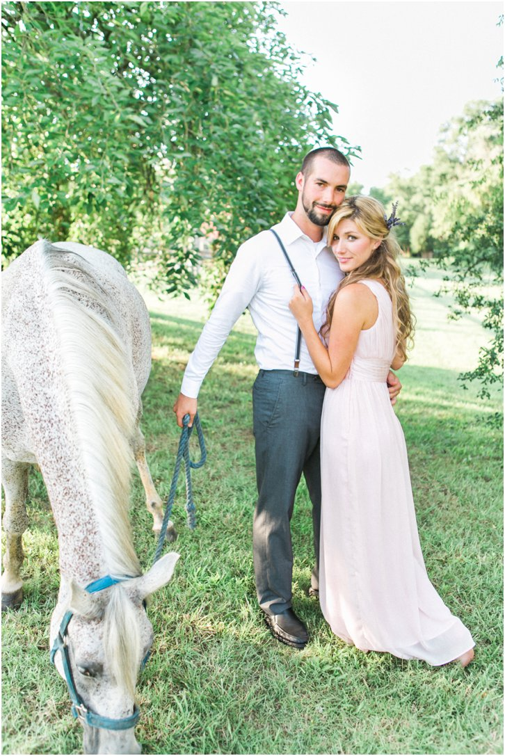 Barnsley Gardens Engagement Photos with Horse