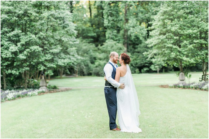 Romantic Garden Wedding Photos Atlanta