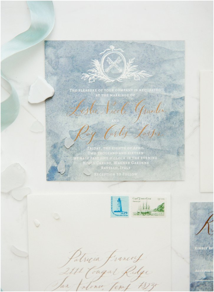 signora mare Calligraphy Wedding Invitations