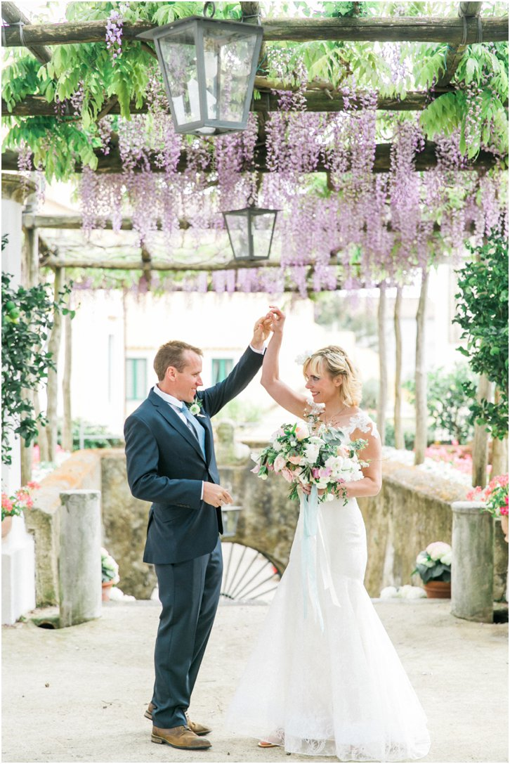 First Look at Belmond Caruso Italy Wedding