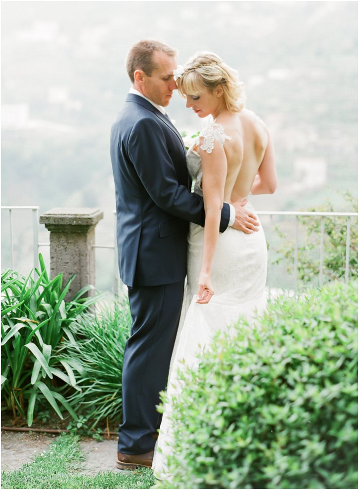 Romantic Wedding Photos on the Almafi Coast