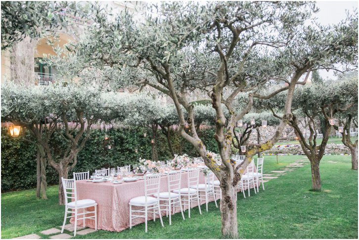 Belmond Caruso Wedding Reception Decor