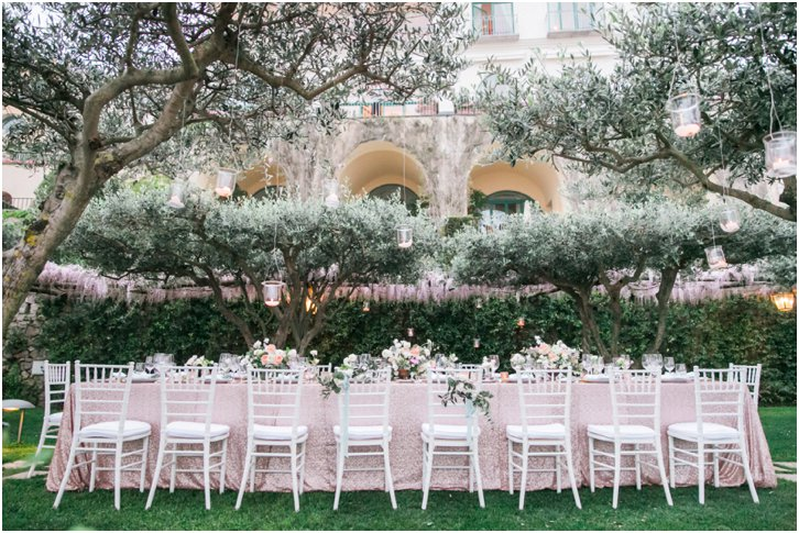 Romantic Garden Wedding Decor Belmond Caruso Almafi Coast