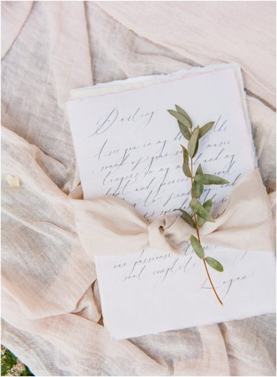 Romantic Calligraphy Wedding Invitation Paris