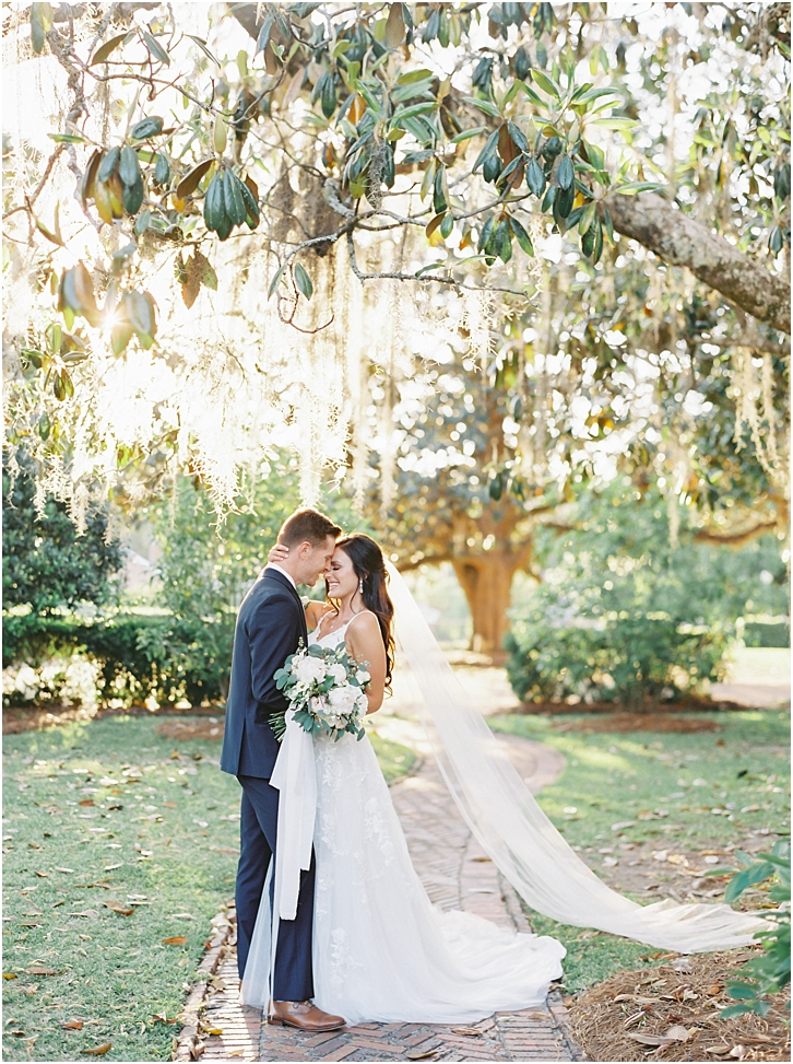 Romantic Wedding Photos Pebble Hill Plantation