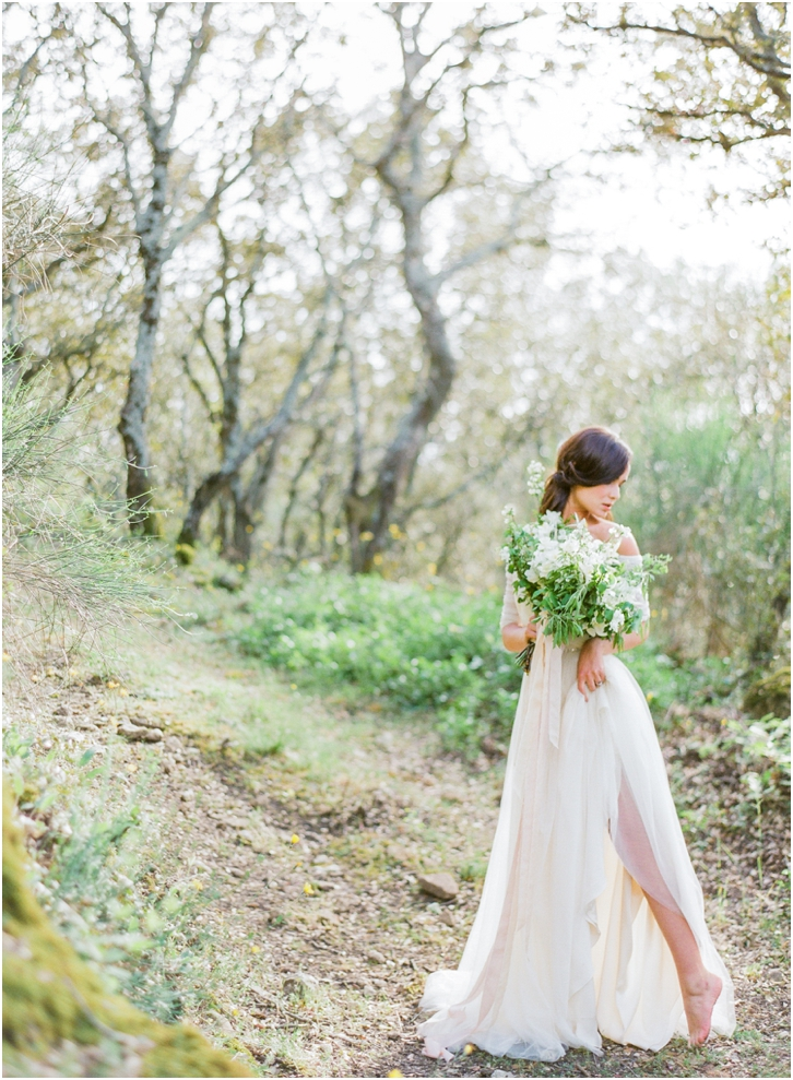 Romantic Outdoor Bridal Session Provence France