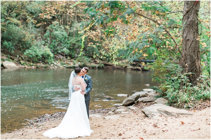 Photos of Bride and Groom At Roswell Mill River