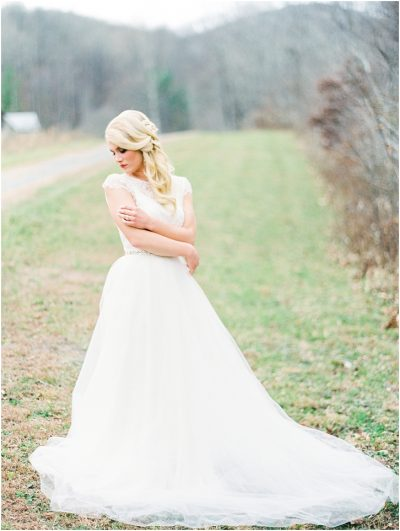 Romantic Mountainside Film Wedding Photos Atlanta