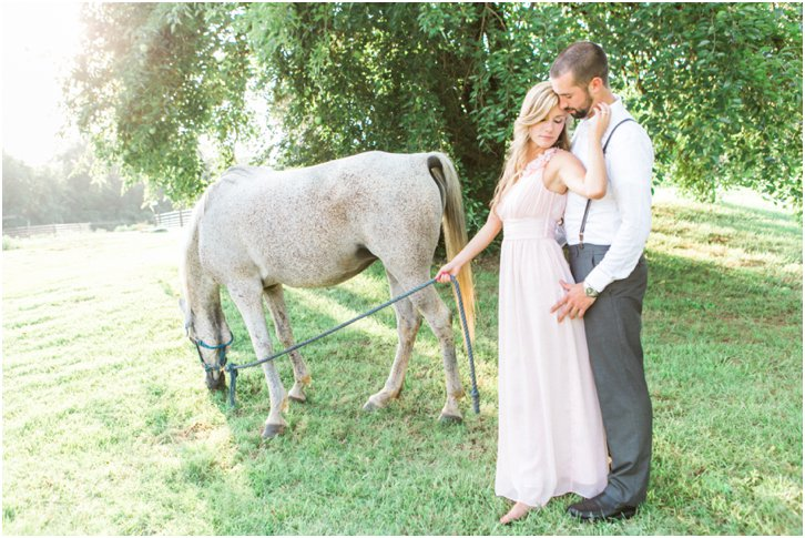 Engagement Photos with horse
