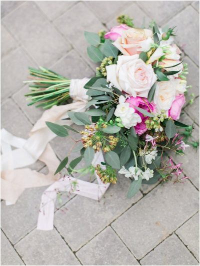Pale Pink and white organic Bridal Bouquet