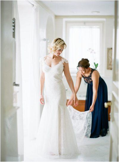 Bride Getting Ready at Belmond Caruso