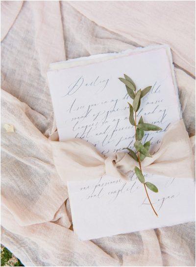 Romantic Calligraphy Wedding Invitation Paris