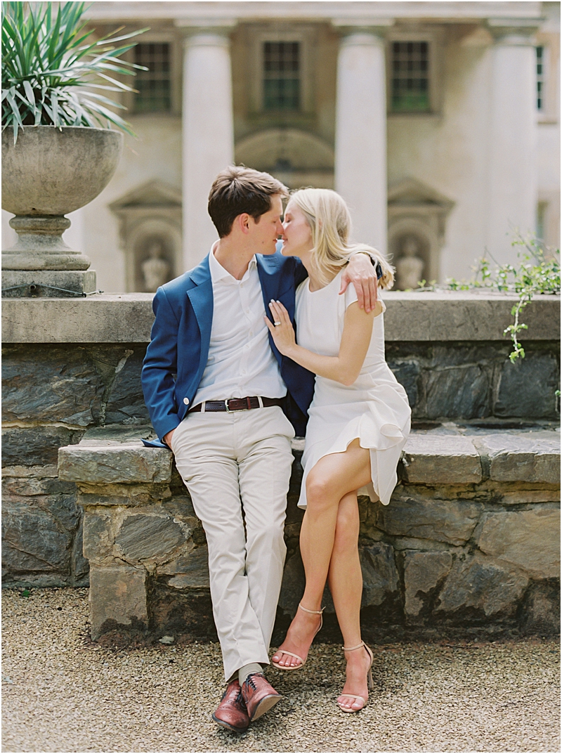 Romantic Engagement Photos Swan House Gardens