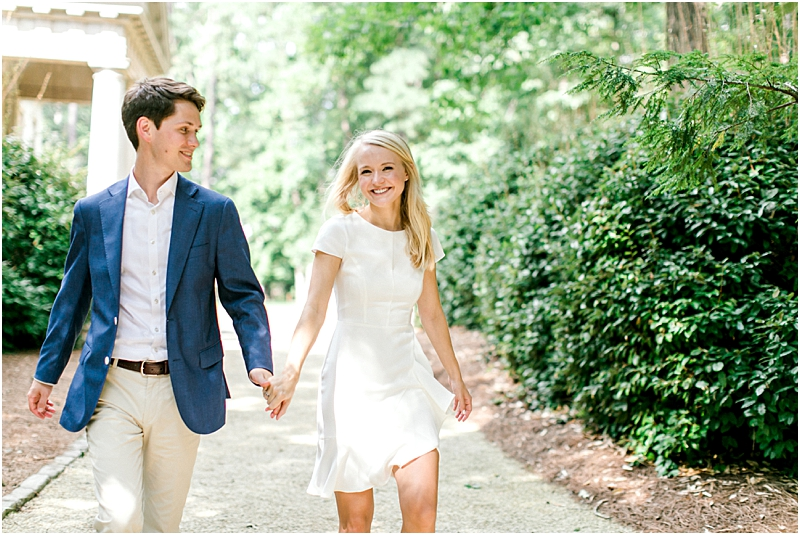 Light and Airy Engagement Photos Swan House Gardens